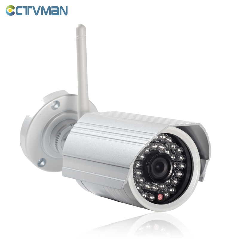 CTVMAN Onvif IP Camera WIFI Surveillance 720p 1080P HD Outdoor Wireless Security CCTV Cam Wi-fi SD Card Slot P2P Bullet Kamera outdoor ip camera wifi megapixel 720p hd security cctv ip cam ir infrared sd card slot p2p v380 bullet kamera