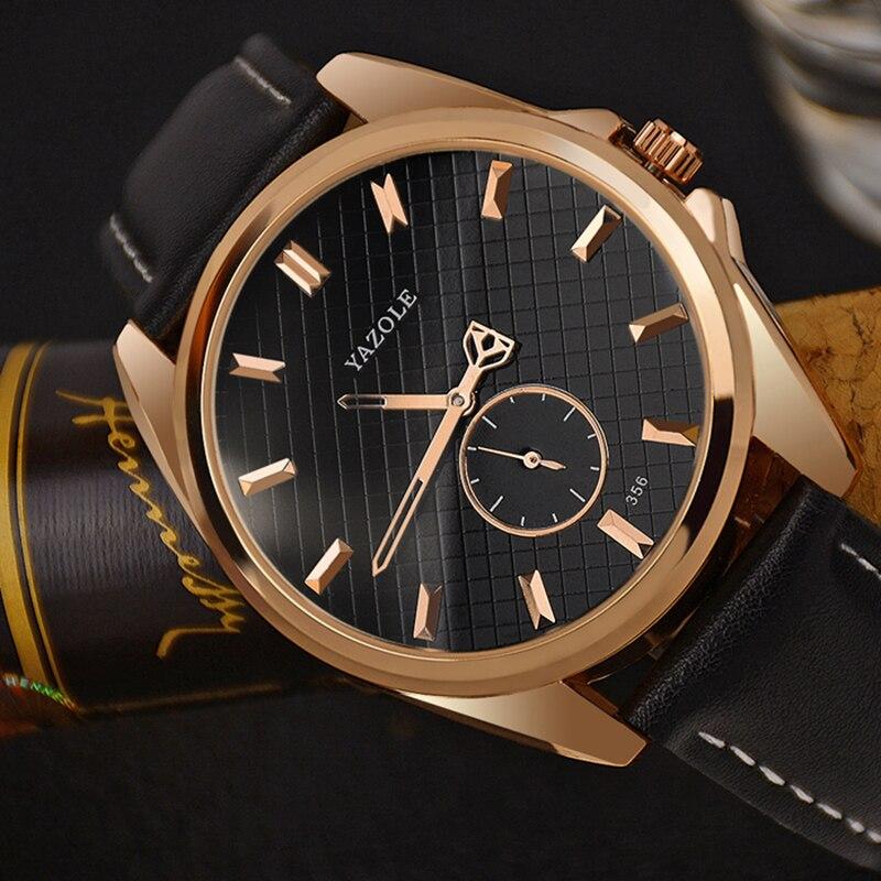 YAZOLE Top Brand Luxury Men's Watch Men Watch Fashion Waterproof Wrist Watch Mens Watches Clock saat relogio relojes hombre 2017 oem relojes hombre relogio lcd dz6217 dz7080