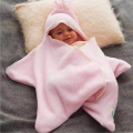 Newborn Baby star  Baby Sleeping Bags Winter Strollers Bed Swaddle Blanket Wrap Cute Bedding Baby Sleeping Bag