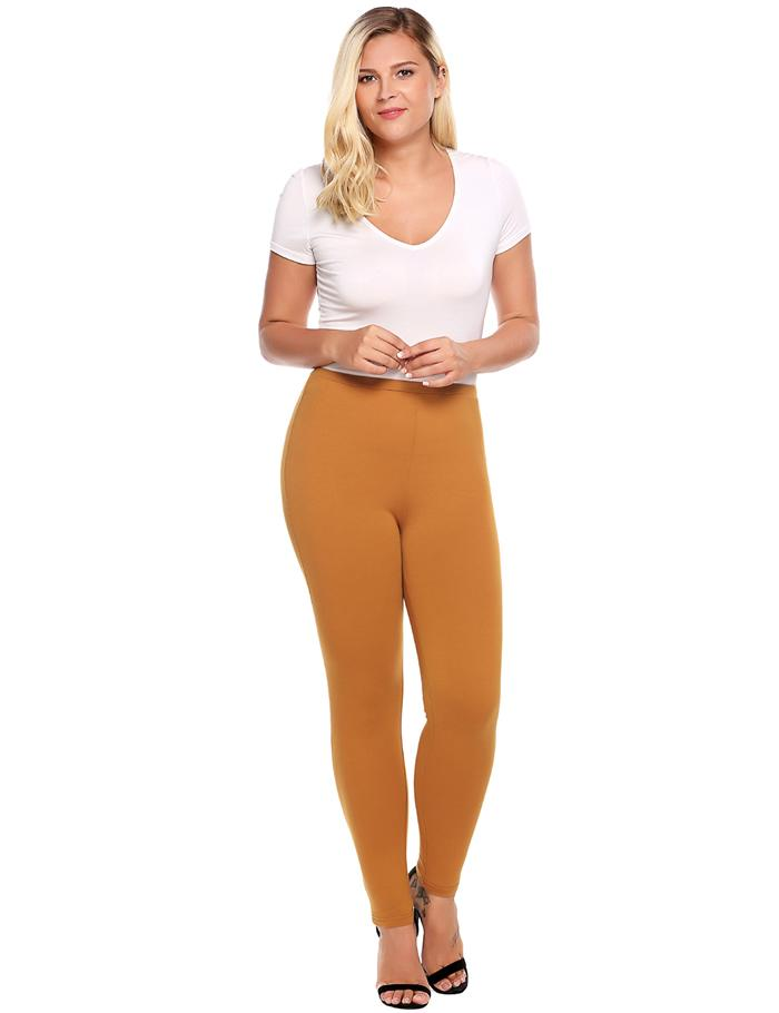 Plus Sized Women's Leggings - Blue, Brown, Black - L, XL, XXL, XXXL, 4XL - image HTB1HIE0SpXXXXXkXXXXq6xXFXXXm on https://awesomeleggingstore.com