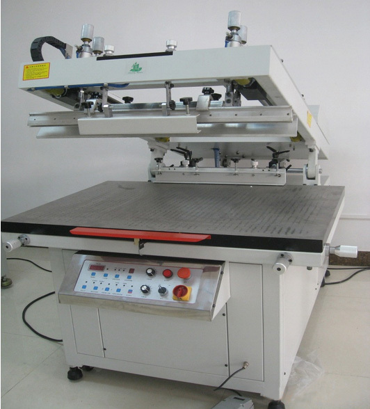 Полу-автоматических косой руку, трафаретная принтер, принтер экрана машина, шелкография