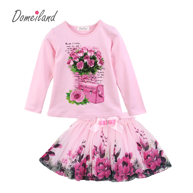 DOMEI LAND Outfits Kids Girl Shirts Tops Sets Clothes