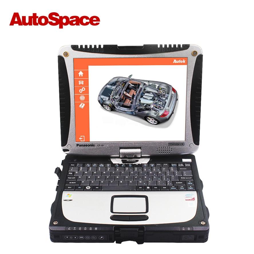 Цена за Хороший Второй Рукой Toughbook CF-19 CF19 Автомобиля Диагностический ноутбук с сенсорным и поворот экрана Ktag ЭКЮ Программист Инструмент Для Kess GDS ВДМ