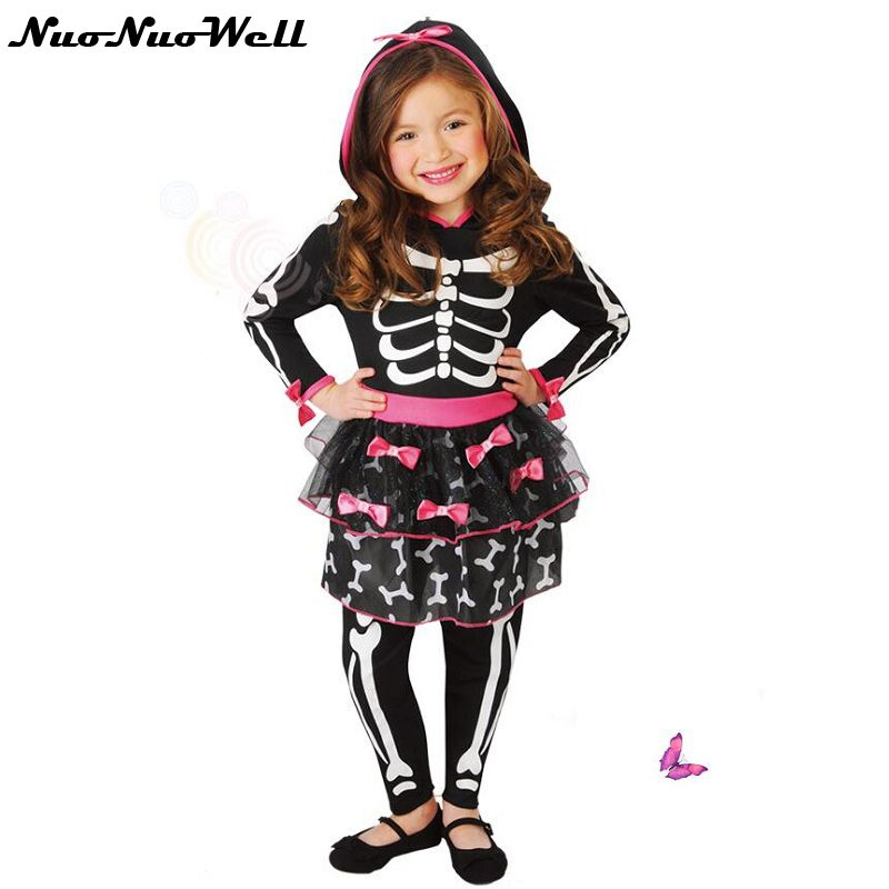 halloween costume kids cosplay professional skeleton witch skirt european and american girls game uniformchina - Skeleton Halloween Costume For Kids