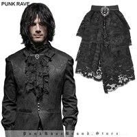 PUNK RAVE Men' Gothic Shirt Fancy Diamond Pendant Lace Ties Vintage Palace party Neckties Clothing Accessories Cravat