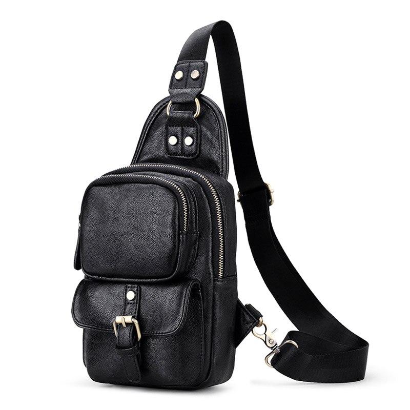6df8e385716a multi pocket handbags crossbody bag for men chest pack luxury designer  leather traveling bag work mens shoulder bags handbag man