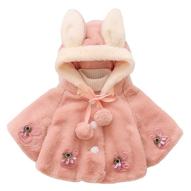14da7f90b Aliexpress.com   Buy 2017 New Baby Girls Coat Infant Fleece Faux Fur ...