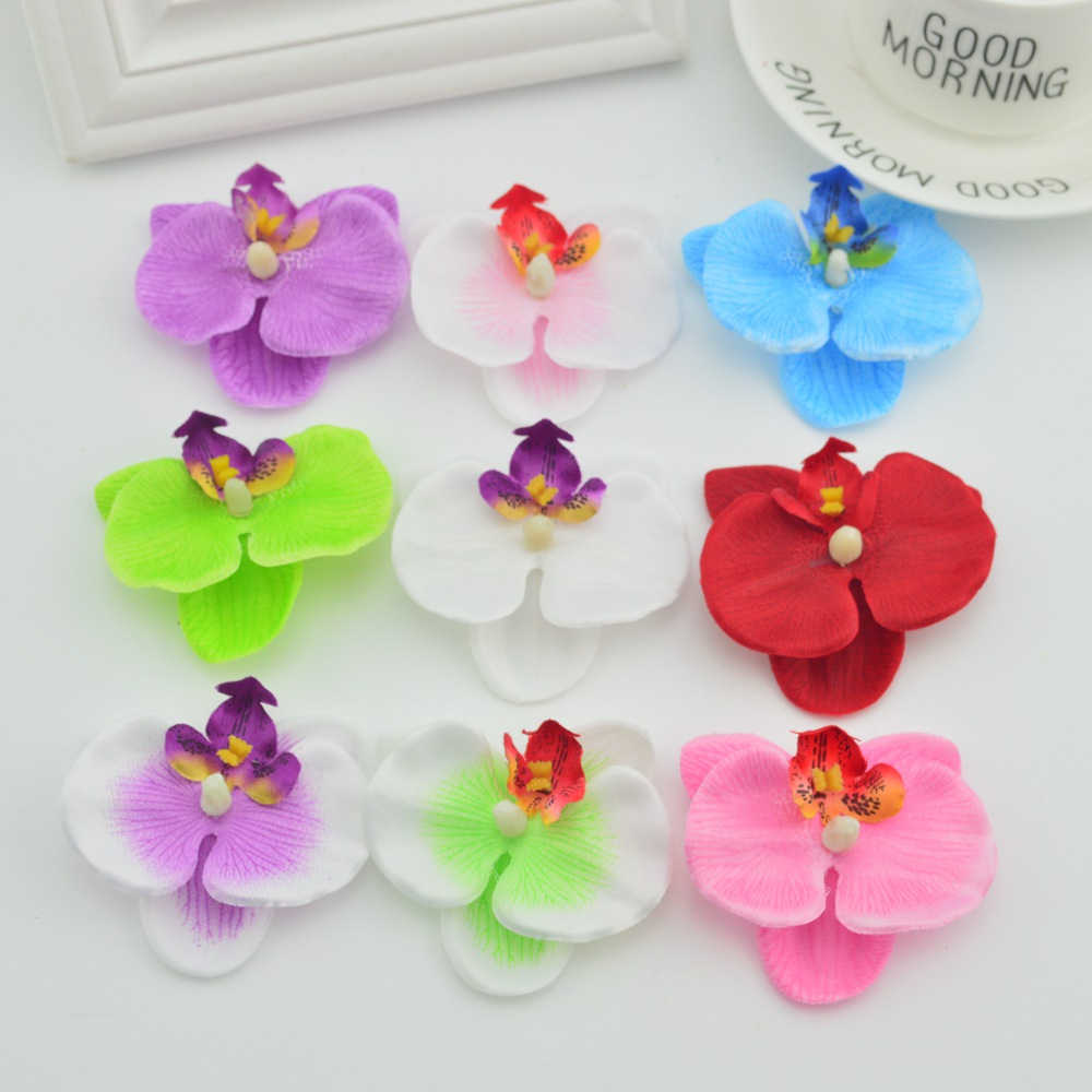 100pcs Orchid Artificial Flowers For Wedding Home Decoration Diy