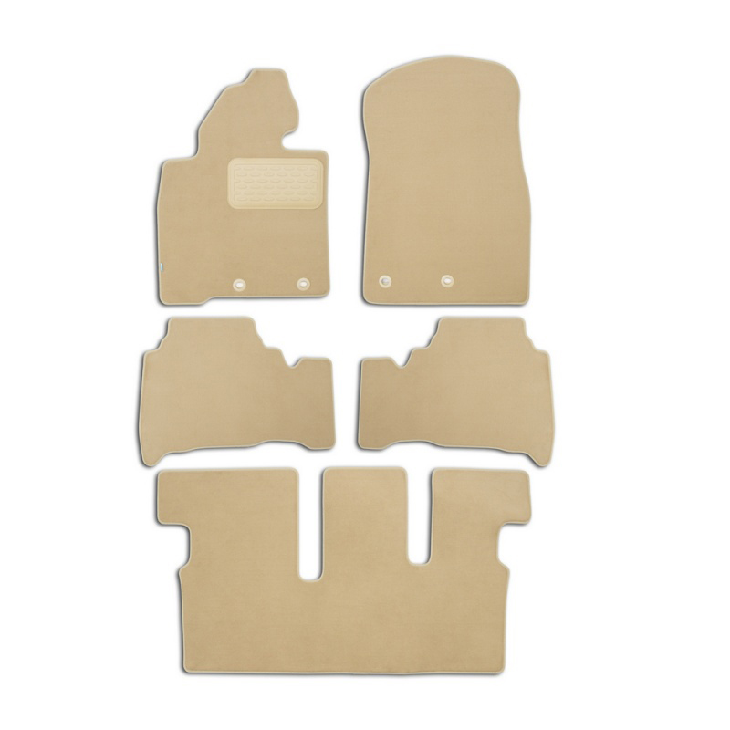 Mats in salon Klever Premium For TOYOTA Land Cruiser 200, 7 seats, AUTOMATIC TRANSMISSION, 2012-> внед... 5 PCs (textile, beige) mats in salon klever premium for toyota highlander 2014 внед 5 pcs textile