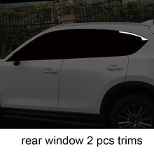 Lsrtw2017 stainless steel car window trims for mazda cx-5 2017 2018 2019 2nd generation