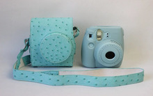 Leather Camera Strap Bag Case Cover Pouch Protector For Polaroid Photo Camera For For Fuji Fujifilm Instax Mini 8