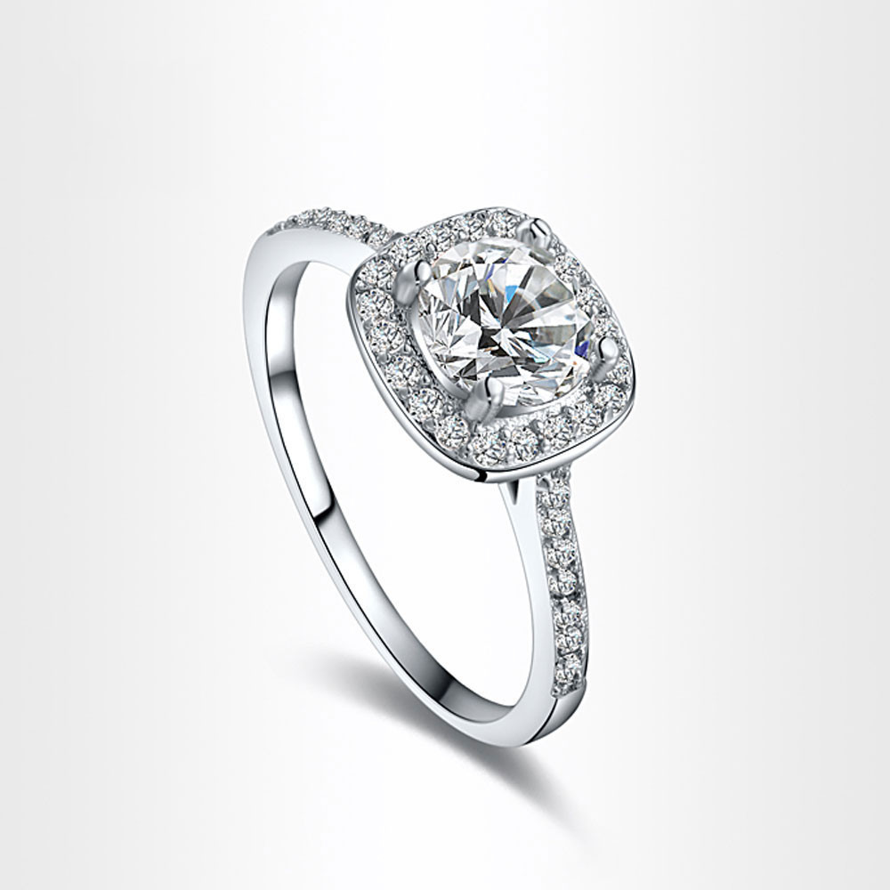 susenstone 2018 Fashion Jewelry Ring Wedding Engagement Ring For Women Ring Hearts Jewelry Ring Drop Shipping