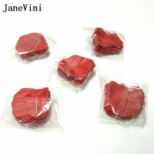 JaneVini 1000pcs Wedding Rose Petals Tilbehør Petalos De Seda Kunststof Fabric Wedding Decoration Flower Rose Flower Petala