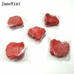 Janevini 1000 pçs casamento pétalas de rosa acessórios petalos de seda tecido artificial decoração do casamento flor rosa petala