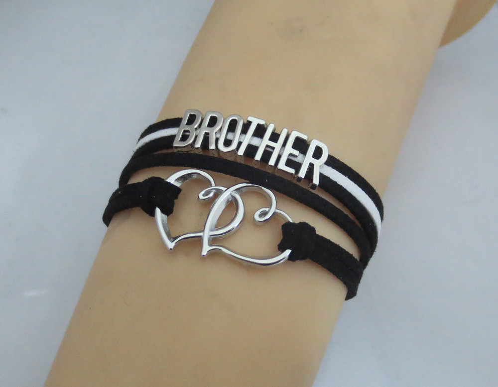 Fashion Infinity Best Brother Bracelets Charm Man Black Bangles Gifts For Boys And S In From Jewelry