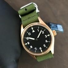 San Martin Men Bronze Pilot Automatic Watch Vintage Diving Wristwatch 200m Water Resistant Relojes Sapphire Glass 4 Dial Choose
