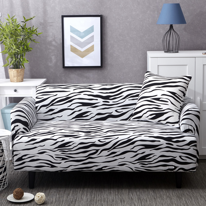 Print zebra universal Sofa cover Tight Wrap Couch covers