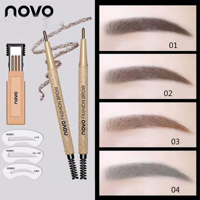 Eyebrow Pencil Free To Send 3 Replacement Refill And 3 Eyebrows Dark