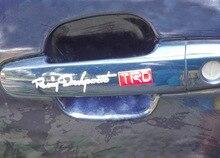 1 пара/лот, TRD Автомобилей стайлинг, 3D ПВХ автомобиля стикер, автомобильный руль стикер, Эмблемы Значка Крома Наклейка(China (Mainland))