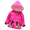 Hot Sale 2017 Winter Baby Girls Coats Kids Minnie Jackets Fashion Hooded Children Outdoor Parka Warm  Cotton-padded Coats
