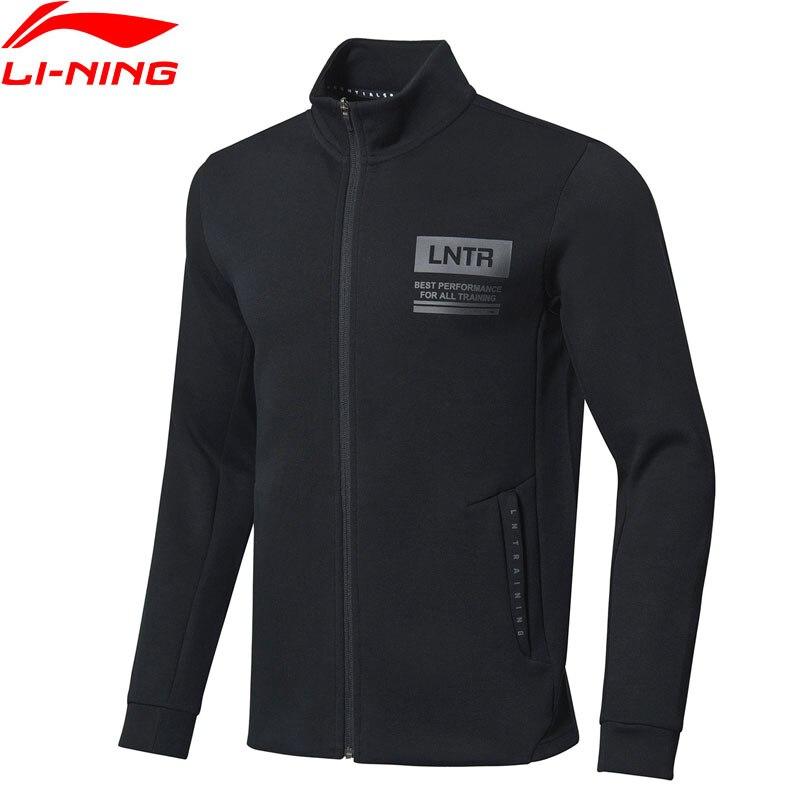 Li-Ning Men Training Sweater Zipper 66%Cotton 34%Polyester Regular Fit LiNing Li Ning Comfort Sports Jackets AWDP159 MWW1561