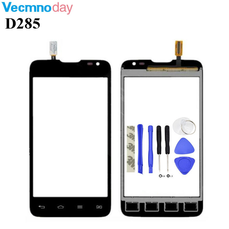 Vecmnoday Original For LG Series III L65 D285 Dual Sim card Touch Screen Digitizer Outer Glass Sensor Black White + +tools