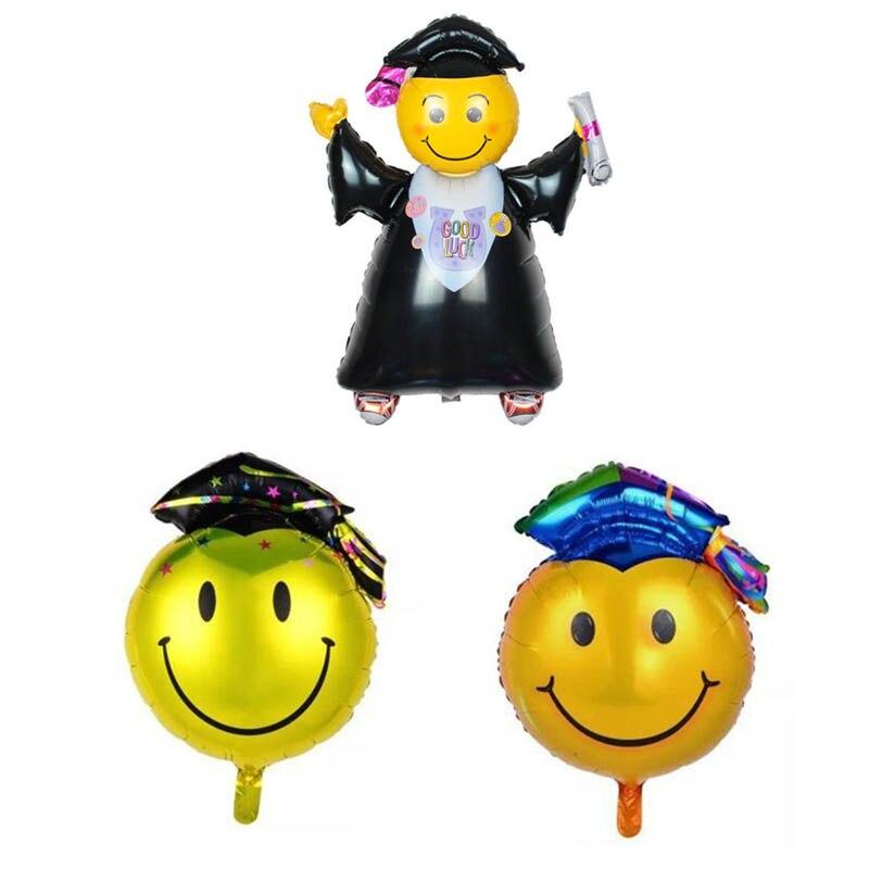 4Pcs Graduation Balloon Dr. Smiley Hat Ceremony Party Hot Sale Decoration