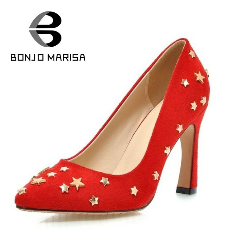ФОТО Big size 32-43 Women Pumps Sexy Metallic Star High Heels Party Wedding Shoes Sexy Pointed Toe Less Platform Womens Pumps