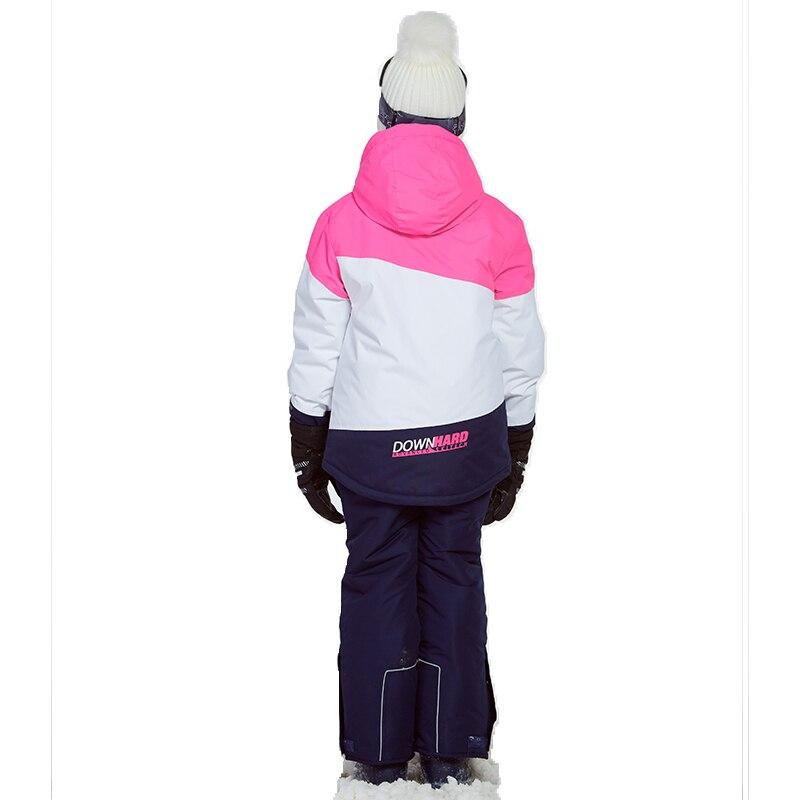 Phibee costume d'hiver pour fille enfants vêtements Ski costume chaud étanche coupe vent Snowboard ensembles hiver veste enfants vêtements - 3