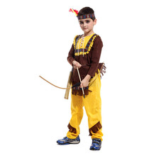 Envío gratis Disfraces de Halloween para niños infantil chicos trajes indios Cosplay Fantasia Disfraces uniformes del juego(China (Mainland))