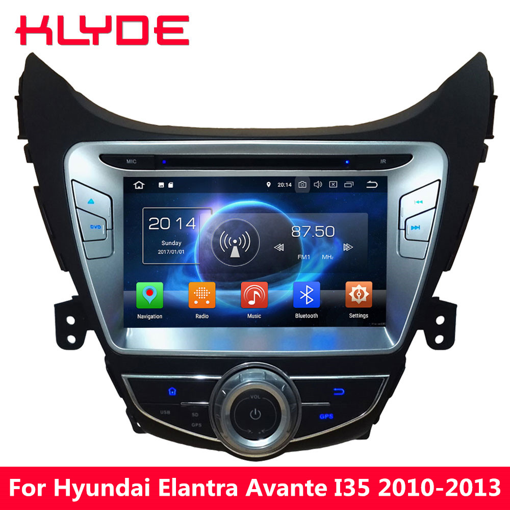 KLYDE Octa Core PX5 4GB RAM 32GB ROM Android 8.0 8.1 Car DVD Multimedia Player Radio For Hyundai Elantra Avante I35 2010-2013 lsqstar st 9079c 7 android car dvd player w 1gb ram 8gb rom gps wi fi for hyundai elantra