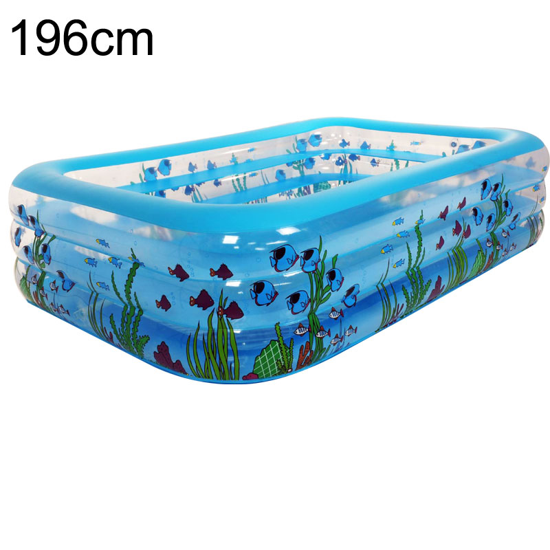 Inflatable Swimming Poo large Size Family Pool 196x143x60cm Intime