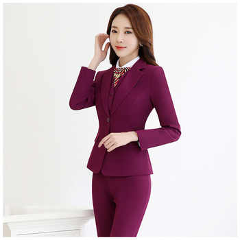Women's Office Lady Two Pieces Sets Solid elegant turn-down collar Blazers & Trousers for woman interview suits plus size S-5XL - Category 🛒 All Category