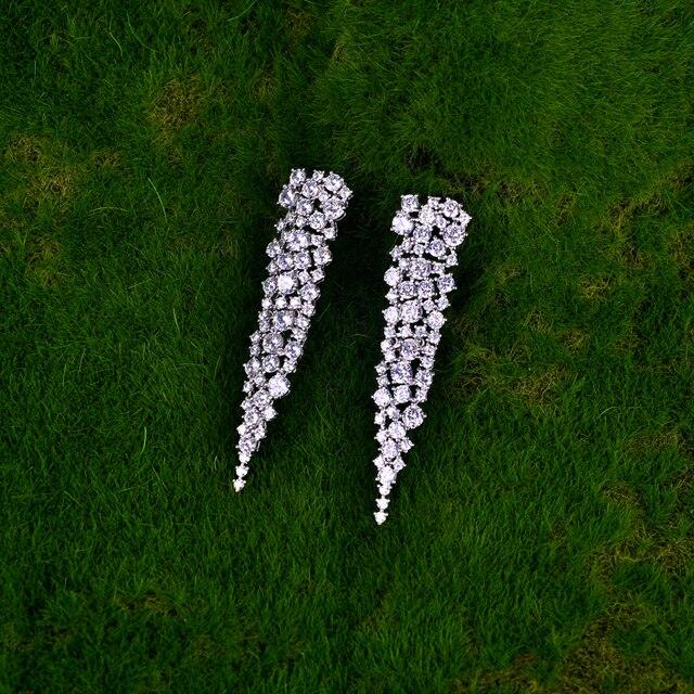Be 8 роскошные бриллиантовые серьги подвески с фианитами ожерелье