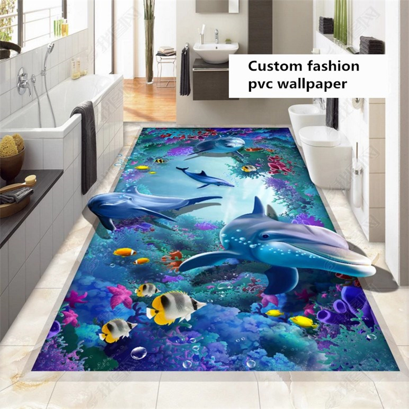 beibehang Custom fashion waterproof three dimensional wallpaper beautiful river stone moss bathroom floor wall papers home decor in Wallpapers from Home Improvement