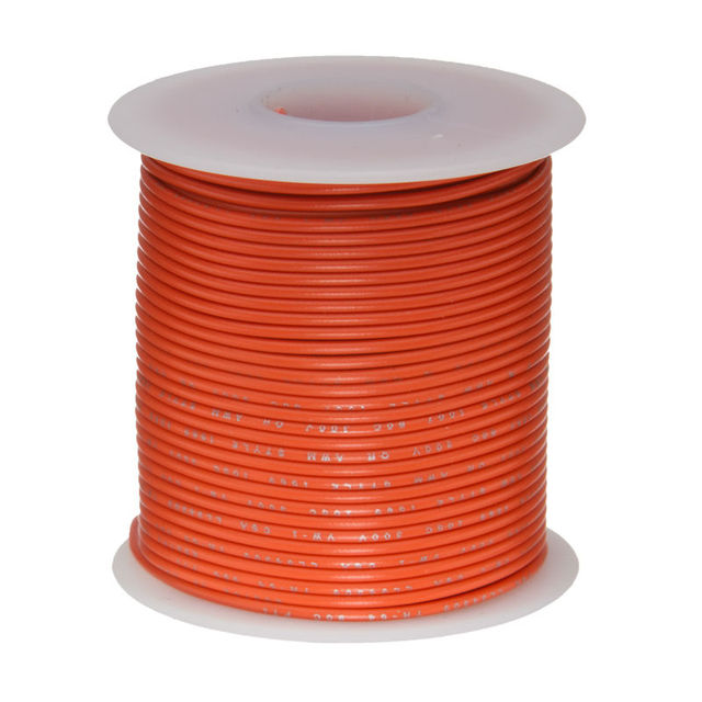 20M 20 AWG Tinned Stranded Copper Cables Orange UL1007 PVC ...