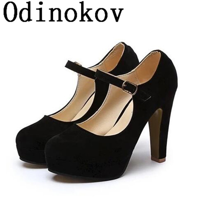 3b6a071d81b Factory Outlet Big szie spring ladies footwear casual thick heels platform  shoes for girls Europe women