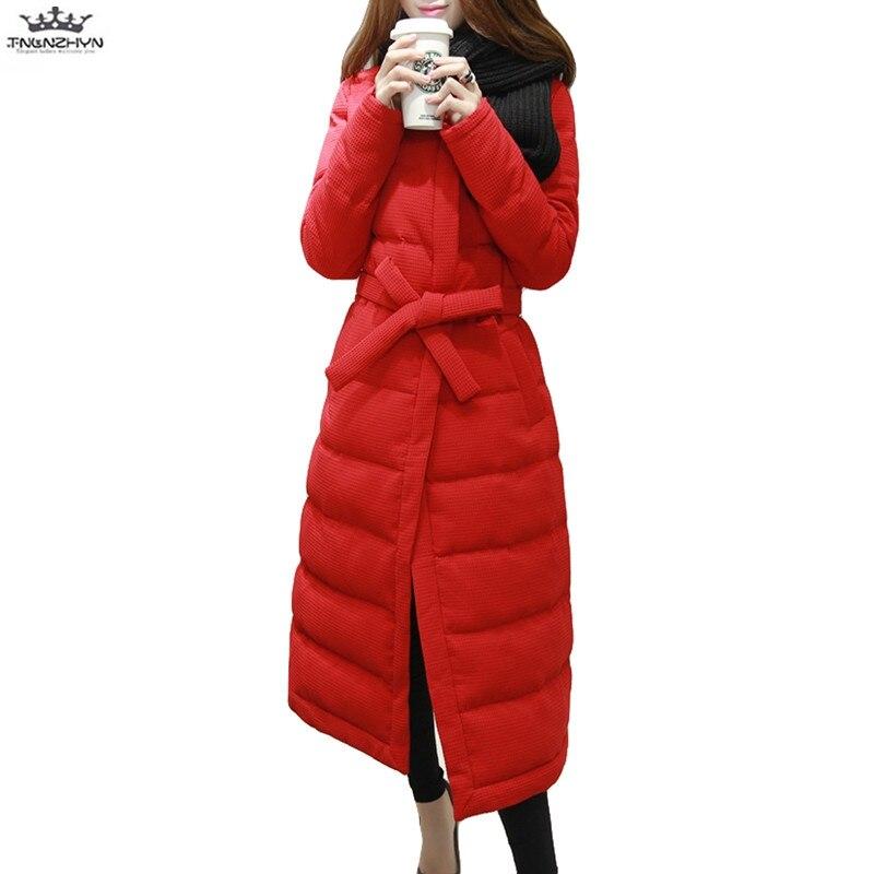 tnlnzhyn 2017 New Winter Jacket Coat Fashion Women Slim Down Cotton Jacket Thick Parka Coat Plus Size Warm Coats Y687 2017 women jacket new medium long down cotton parka plus size coat women winter coat long women warm outerwear coats yagenz k424