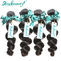 4 Bundles Unprocessed Grade 6A Brazilian Virgin Human Hair Loose Wave 100% Brazilian Loose Wave Human Hair Weaves Free Shipping