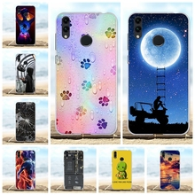For Huawei Honor 8C Case Soft TPU Silicone BKK LX2 LX1 L21 Cover Moon Patterned Funda