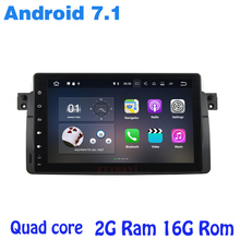 Android 7 1 Quad core Car font b radio b font gps for BMW E46 M3