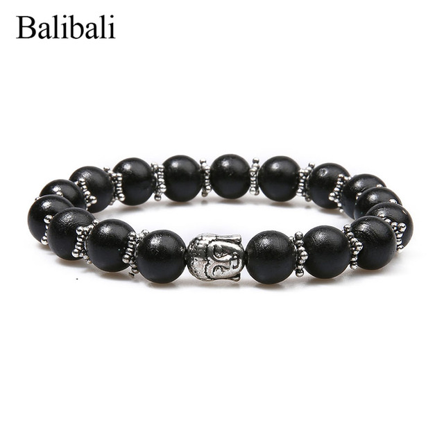 Balibali Nepal Buddha Religion Bracelet Charm Buddhist Tibetan Prayer Wooden Beads Bracelets Wrist Ornament Bangles Men
