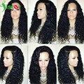 Бразильский Полный Шнурок Человеческих Волос Парики Для Чернокожих Женщин Глубокая Вьющиеся передние Парики Шнурка С Волосами Младенца Glueless Фронта Шнурка Человеческих Волос парик