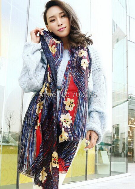 trendy wool   wrap   poncho   scarf     wrap   shawl womens Printing   scarf   top-selling factory sale 180*70cm #3787