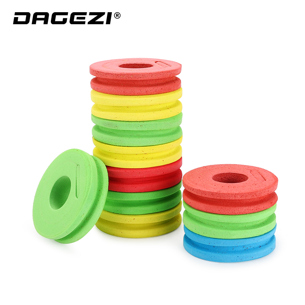 DAGEZI EVA Foam Winding Board Fishing Line Colorful/Yellow Winding Board Pesca Fishing Tackle Box Fishing Accessories