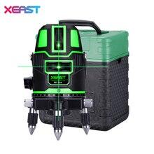Xeast зеленый лазерный уровень 5 линий 6 очков XE-11A наклона Функция 360 Поворотный наливные открытый перекрестной линии Инструменты