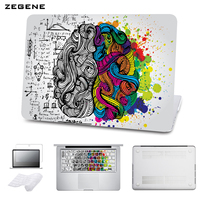 5 In 1 Bundle Hard Case For Apple Macbook Air Pro 11 12 15 Retina Printing