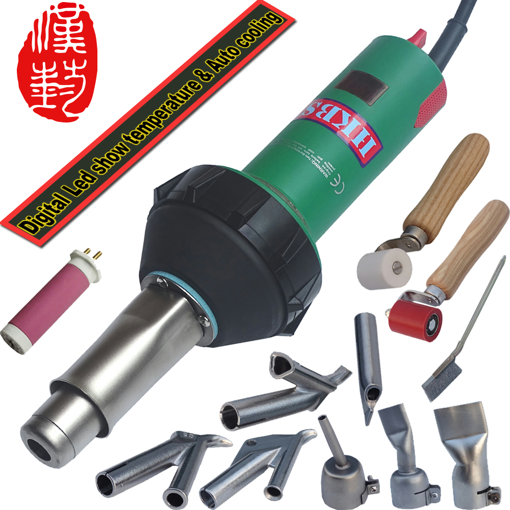 HKBST Hot Air Plastic Welder Welding Torch Tool gun Speed Welding Nozzles tips pressure Rollers with