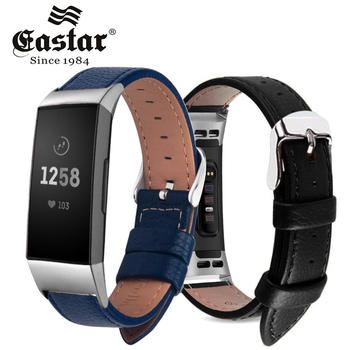 Brown Leather Smart Watch band for Fitbit Charge 3 Replacement Wristband Strap for Fitbit Charge 3 Band Smart Accessorie