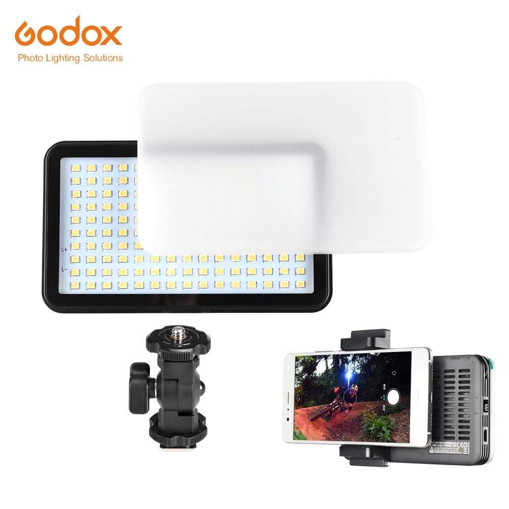 Godox LEDM150 Built-in Lithium Battery Mobile Phone LED Video Light for Selfie for Digital Camera godox ledm150 mobile phone video light max power 9w 5600k usb power charge socket for portable digital eos camera camcorder dv